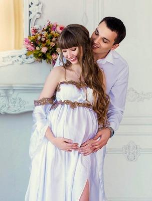 Фотосессия с мужем во время беременности