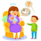 Ребенок спрашивает откуда берутся дети