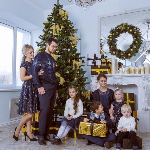 Комковы на Новогодней фотосессии