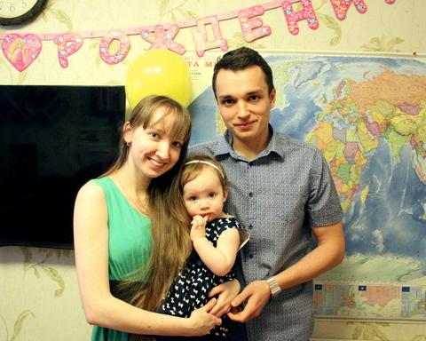 Первый день рождения дочки