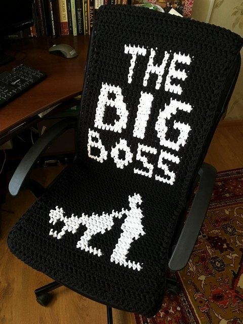 Чехол на офисный стул своими руками