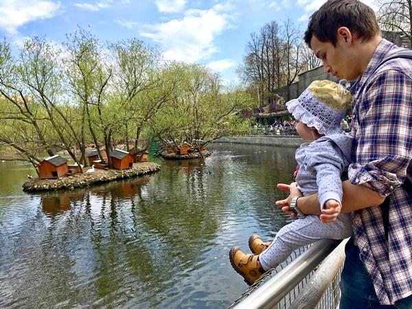 Московский зоопарк с ребенком