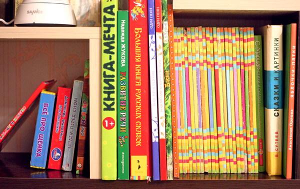 Полка с детскими книгами