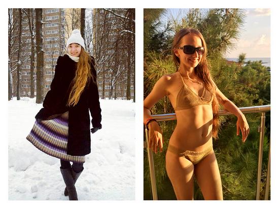 Вязаный купальник и болгарская юбка